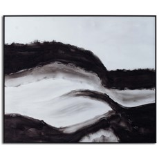 Rolling Hills Glass Image in Black Frame