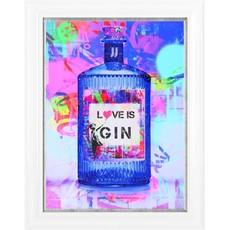 Love Is Gin Framed Print