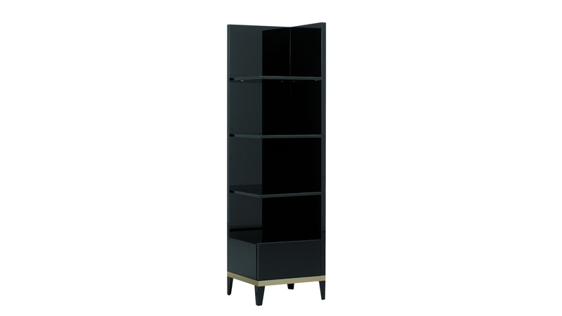 Barletta Right Corner Bookcase