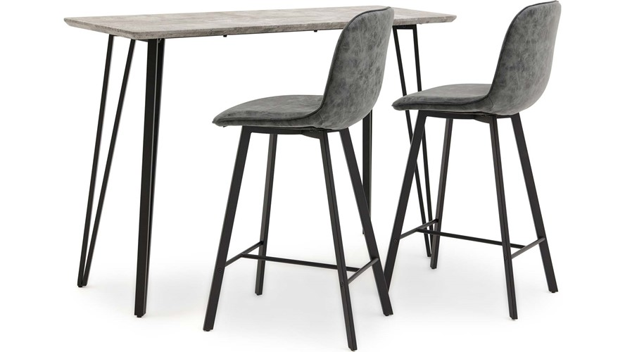 Akida Bar Table & 2 Bar Stools