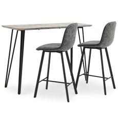 Akida Bar Table & 2 Bar Stools