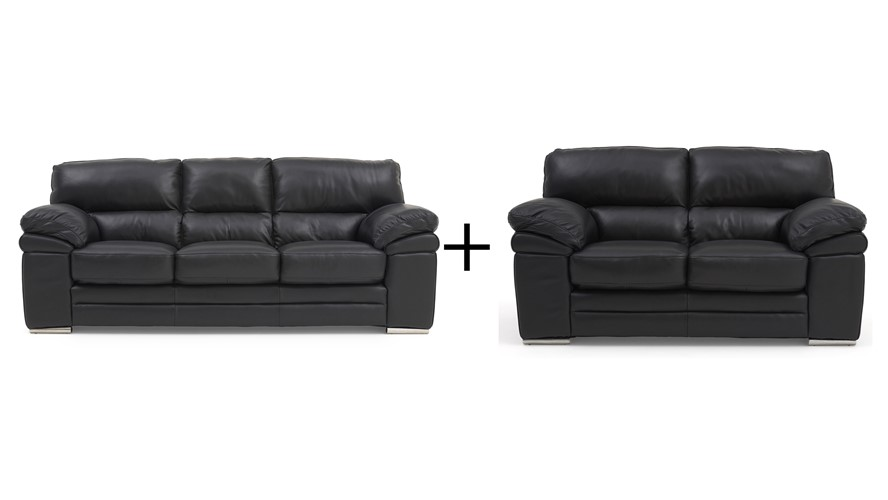 Aldo Leather Aldo 3 Seater & 2 Seater Sofa Set