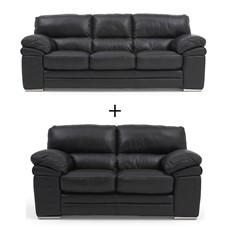 Aldo Leather Aldo 3 Seater & 2 Seater Sofa Set