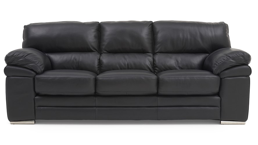 Aldo Leather 3 Seater Sofa | Sterling Furniture