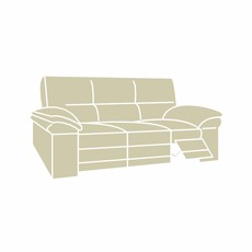 Aldo Fabric 3 Seater Recliner Sofa