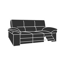Aldo Leather 3 Seater Recliner Sofa