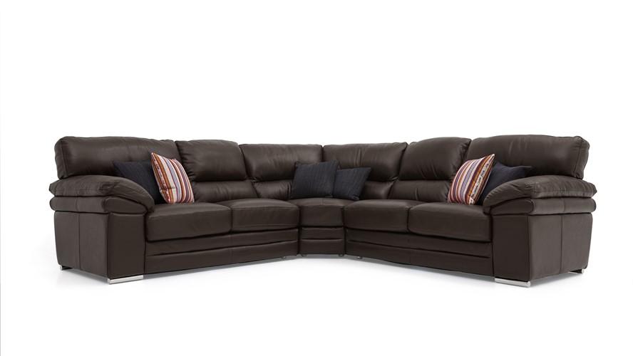 Aldo Leather Corner Sofa Sterling Furniture
