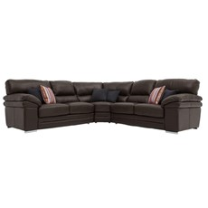 Aldo Leather Corner Sofa