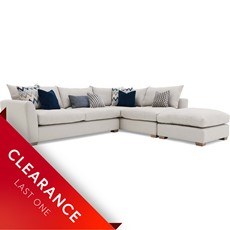 Ex-display Alessia LHF Combi Corner sofa & Footstool
