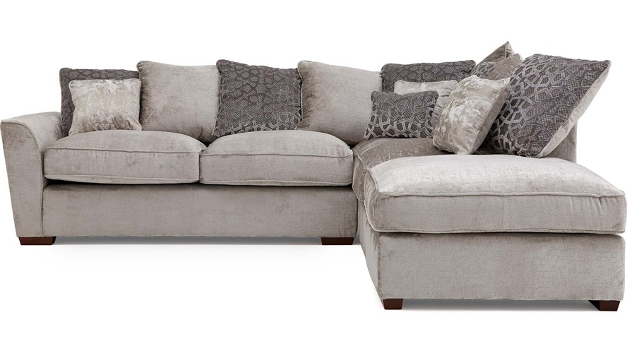 Allure Corner Sofa with Stool Chaise Right