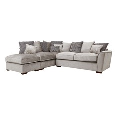 Allure Corner Sofa with Stool Chaise Left