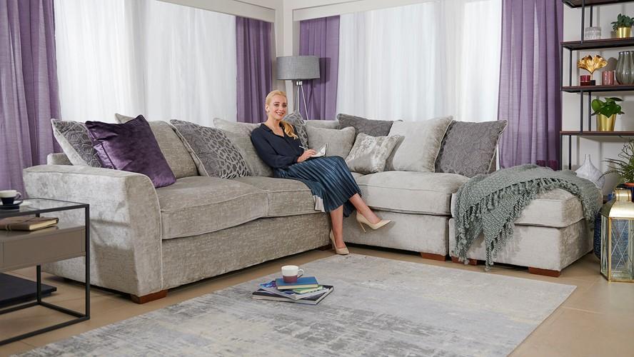 Allure Allure Corner Sofa with Stool Chaise Left