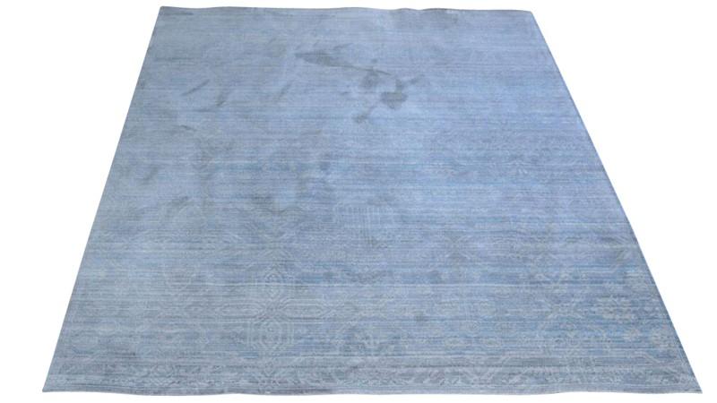 Aqua Silk Rug - B471A Grey