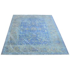 Aqua Silk Rug - E309B Blue-Light Blue