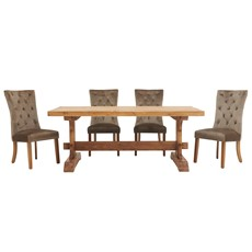 Argus Dining Table & 4 Arion Chairs