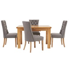 Ashbourne 125cm Extending Table & 4 Cranbrook Curved Dining Chairs