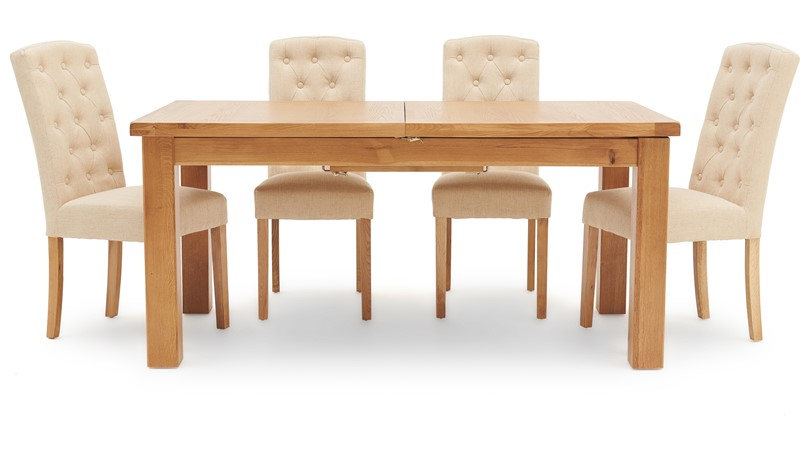 Ashbourne 170cm Extending Table & 4 Cranbrook Dining Chairs