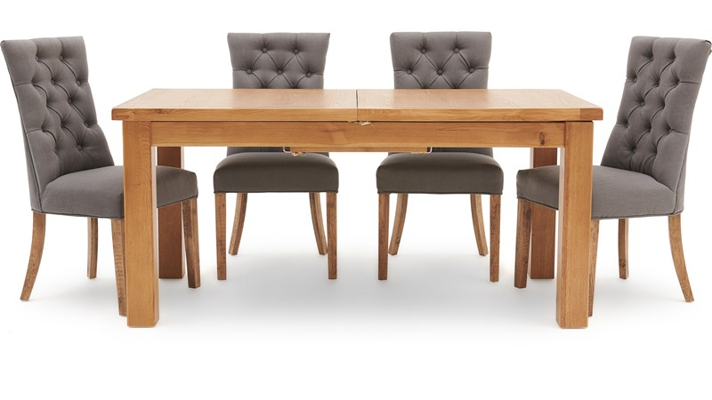Ashbourne 170cm Extending Table & 4 Cranbrook Curved Dining Chairs