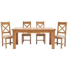 Ashbourne 170cm Extending Table & 4 Cross Back Chairs