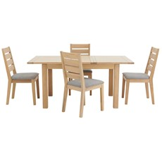 Astrid Extending Table  & 4 Wooden Chairs