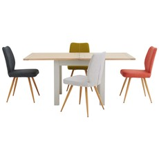 Astrid Flip Top Table & 4 Hansen Chairs