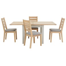 Astrid Flip Top Table & 4 Wooden Chairs
