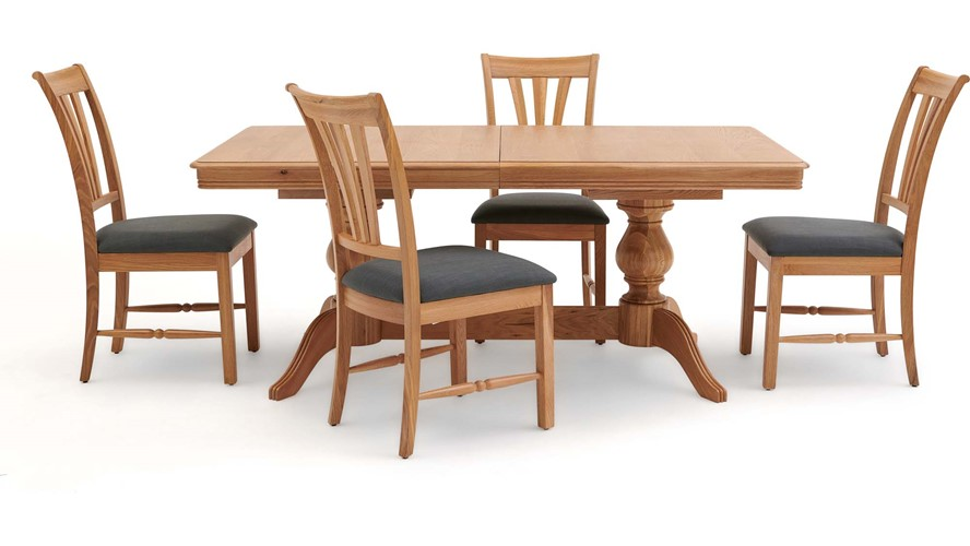 Beaufort Large Extending Table & 4 Chairs