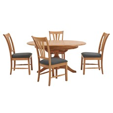 Beaufort Round Extending Table & 4 Chairs