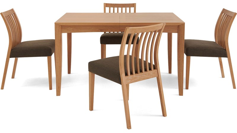 Blaine Extending Dining Table & 4 Slat Back Chairs