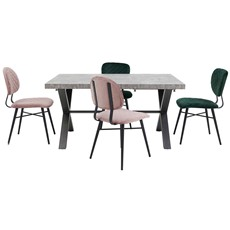 Bourton Stone Small Table & 4 Asher Chairs