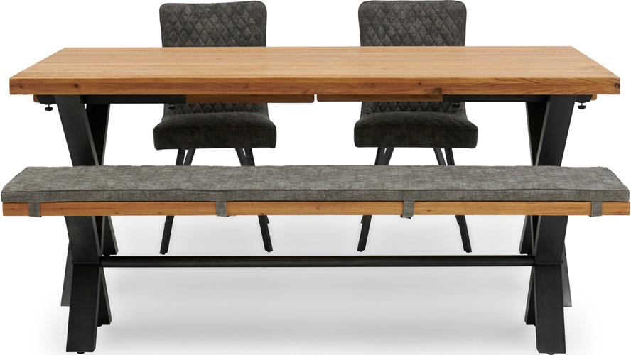 Bourton Dining Table, Bench & 3 Chairs