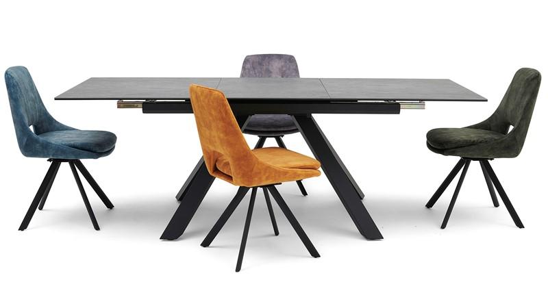 Brax Dining Table & 4 Jada Dining Chairs