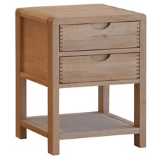 Ercol Bosco 2 Drawer Bedside Chest