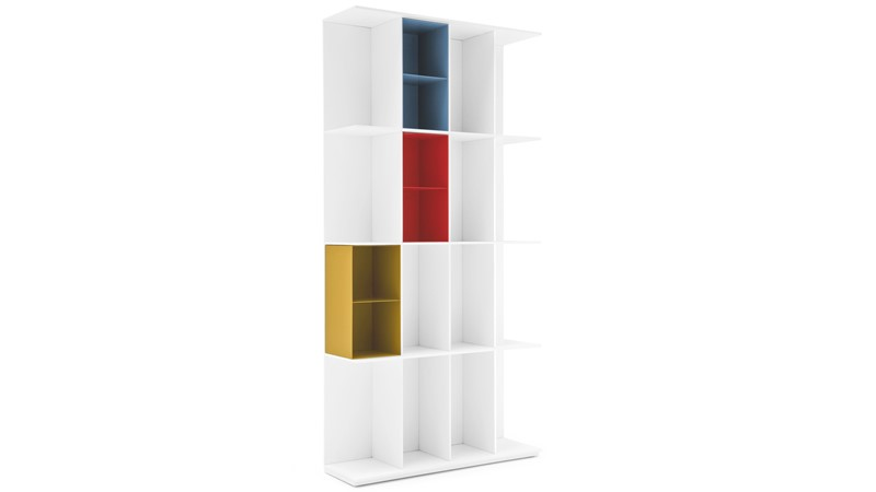 Calligaris Division 16 Compartment Bookcase