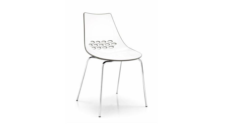 Calligaris Jam Metal-Leg Chair