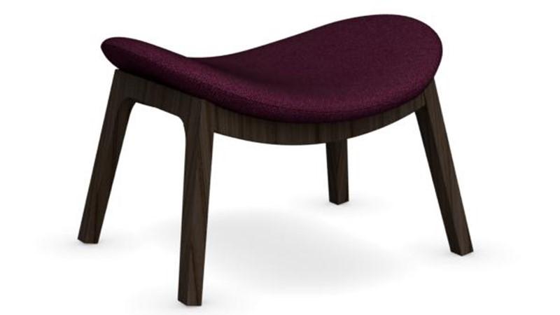 Calligaris Lazy Wooden-Leg Ottoman