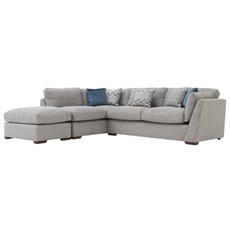 Carla Left Chaise Corner Sofa & Stool