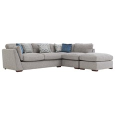 Carla Right Chaise Corner Sofa & Stool