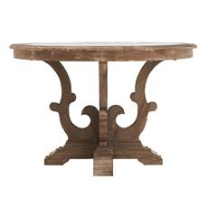 Caspien Zinc Circular Dining Table