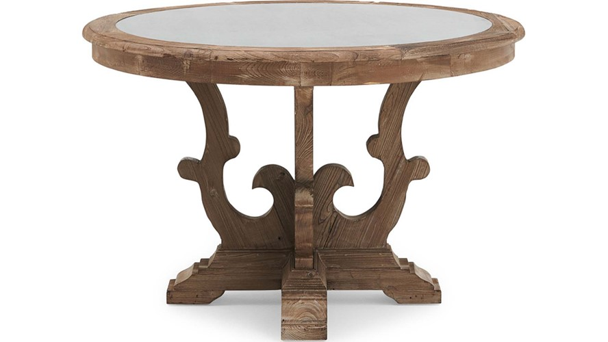 Caspien Zinc Circular Dining Table