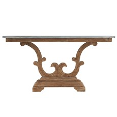 Caspien Zinc Console Table