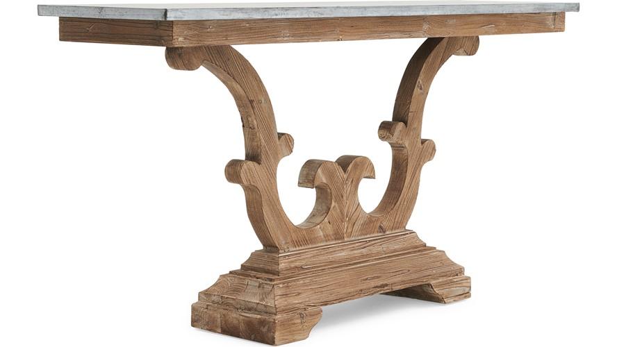 Caspien Zinc Console Table