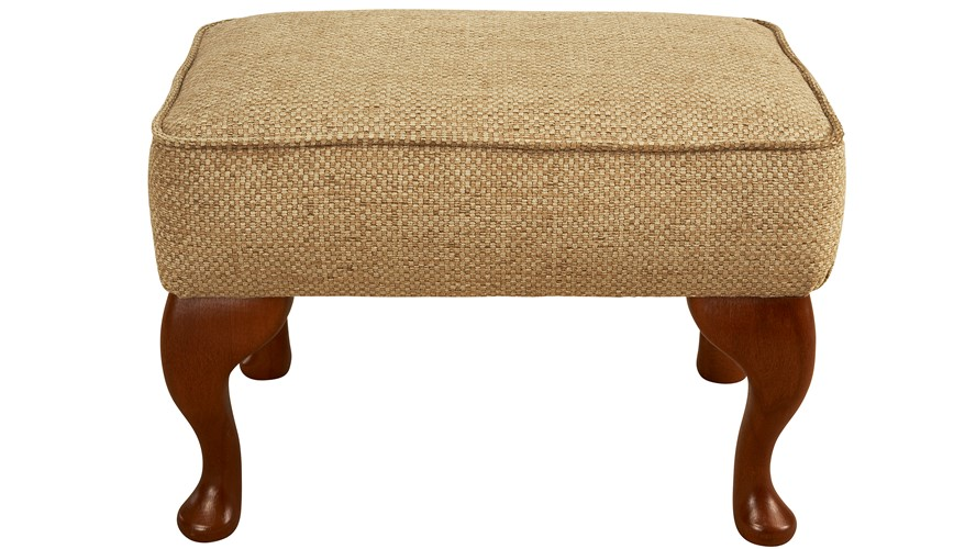 Celebrity Fabric Legged Footstool