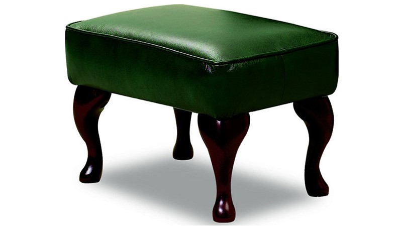 Celebrity Leather Legged Footstool