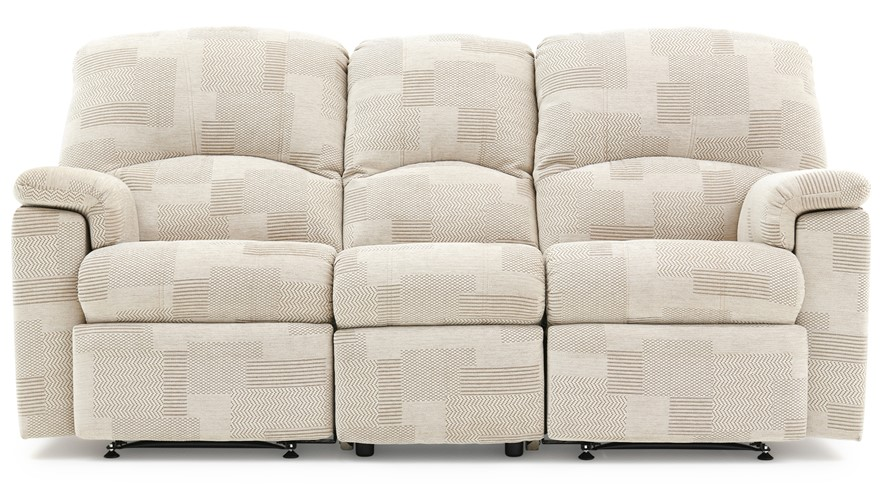 Recliner Sofa Fabric Hunter Reclining Sofa In Brown Fabric