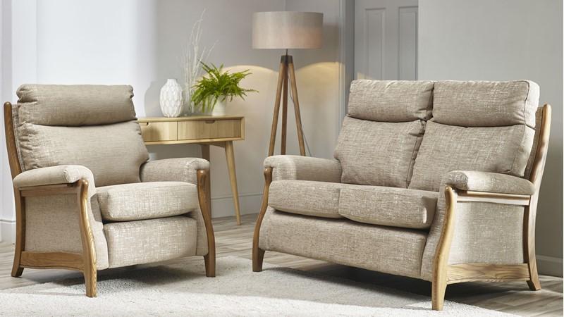 Cintique Richmond Fabric 2 Seater Sofa