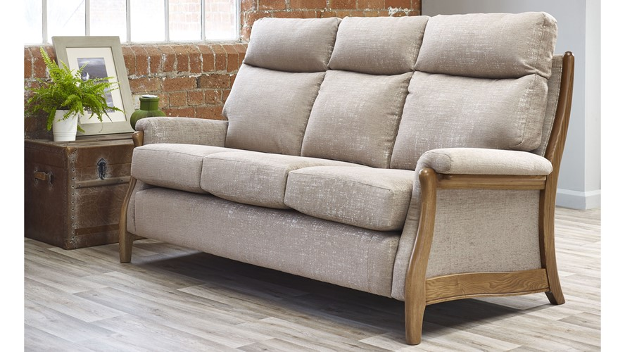 Cintique Richmond Fabric 3 Seater Sofa