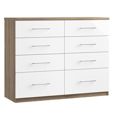 Catania 8 Drawer Twin Chest