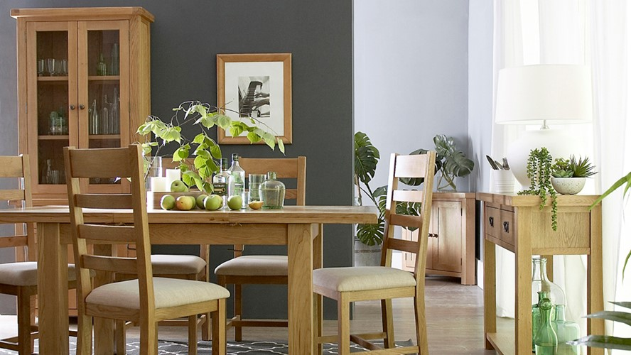 Ashbourne 240cm Butterfly Extending Dining Table