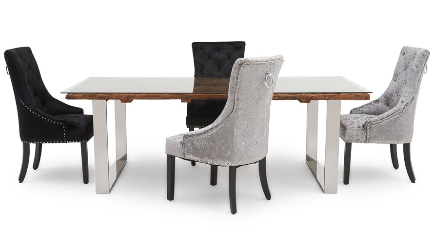 Columbus 220 Dining Table & 4 Voltaire Chairs
